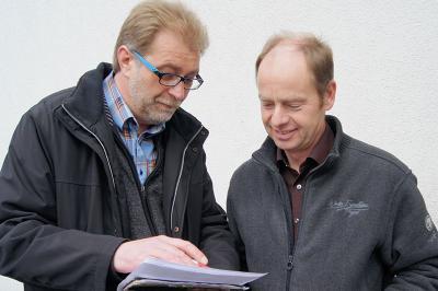 Ralf Lang und Eberhard Brandhoff in der Planung